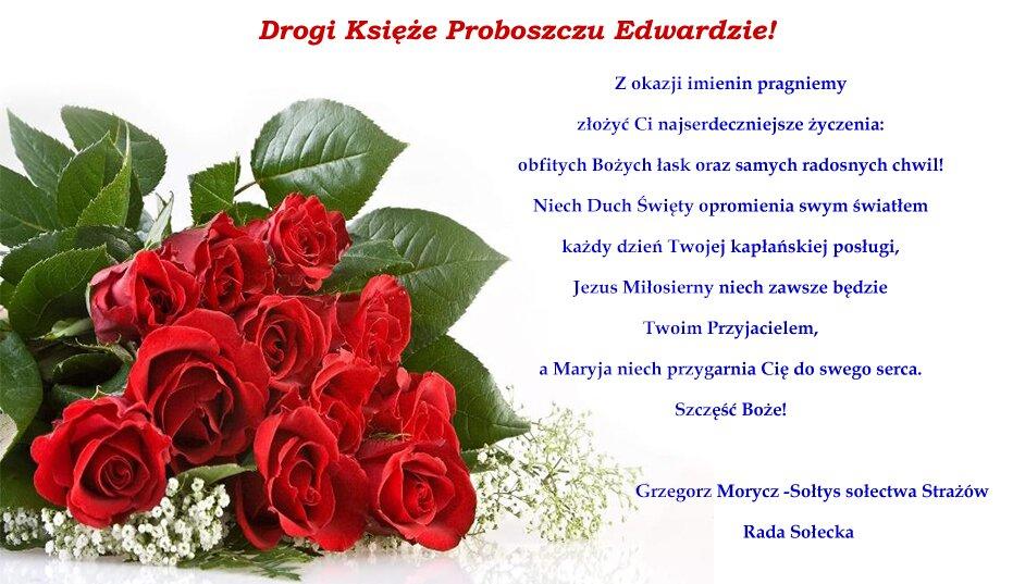 życzenia imieninowe ks.proboszcza